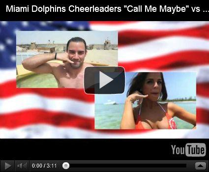 "soo good lol - Video   Miami Dolphins Cheerleaders ""Call Me Maybe"" vs U.S. Troops ""Call Me Maybe"""