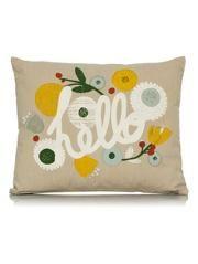 George Home Hello Slogan Cushion 40x50cm