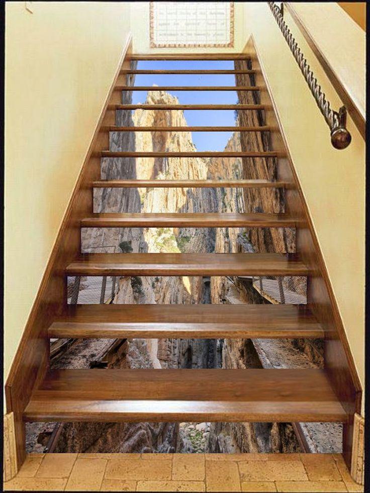 3d Grand Canyon Stair Risers Mural Pvc Sticker Mural Photo
