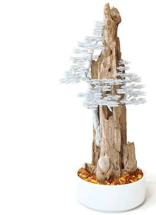 Driftwood sculpture, driftwood art , driftwood bonsai , wire tree sculpture , bonsai wire tree , metal sculpture , wire art , metal art. This amazing medium size bonsai wire tree sculpture on driftwood will give your home a strong emotion. I use about 100 meters stainless steel wire to