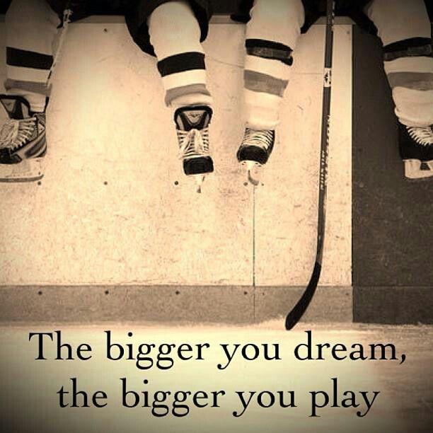 The bigger you dream....#Hockey