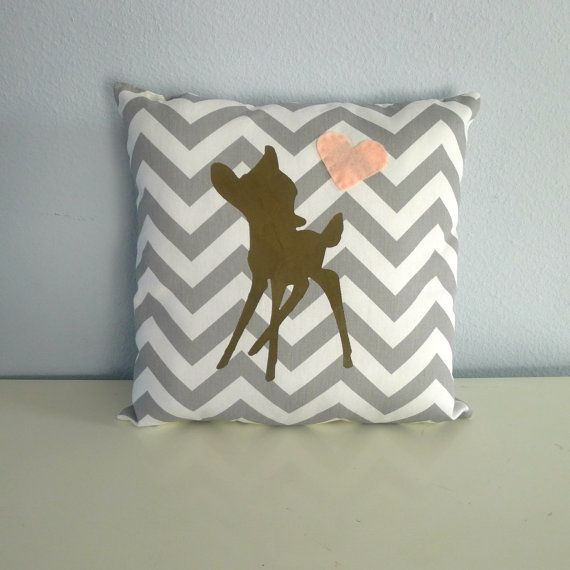 Gray+Fawn+Heart+Pillow+FREE+SHIPPING+by+KatieScarlettCo+on+Etsy,+$24.50