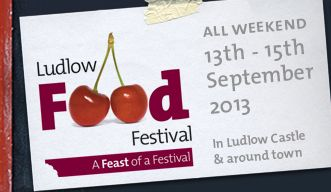 Welcome to the Ludlow Food Festival - we'll be there!