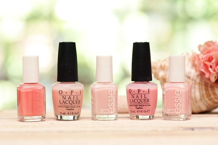 "5 summer pinks: Essie ""Shop till I Drop,"" a pretty sheer coral pink; OPI ""Passion,"" a sheer, glossy pink, not too beige; Essie ""Mademoiselle,"" glossy, sheer, soft milky pink; OPI ""Heart Throb,"" girly, sheer yet bright rose petal pink; Essie ""Sugar Daddy,"" glossy, sheer baby pink nude, my personal favorite!"