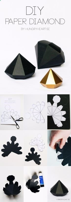 Best DIY Gifts for Girls - DIY Paper Diamond - Cute Crafts and DIY Projects that Make Cool DYI Gift Ideas for Young and Older Girls, Teens and Teenagers - Awesome Room and Home Decor for Bedroom, Fashion, Jewelry and Hair Accessories - Cheap Craft Projects To Make For a Girl for Christmas Presents diyjoy.com/...  https://www.djpeter.co.za