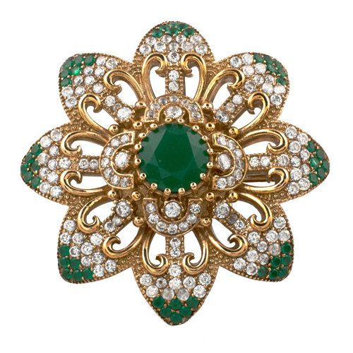 Turkish Ottoman Hurrem Sultan Flower emerald brooch pinhttps://www.etsy.com/listing/222639492/turkish-ottoman-hurrem-sultan-flower?
