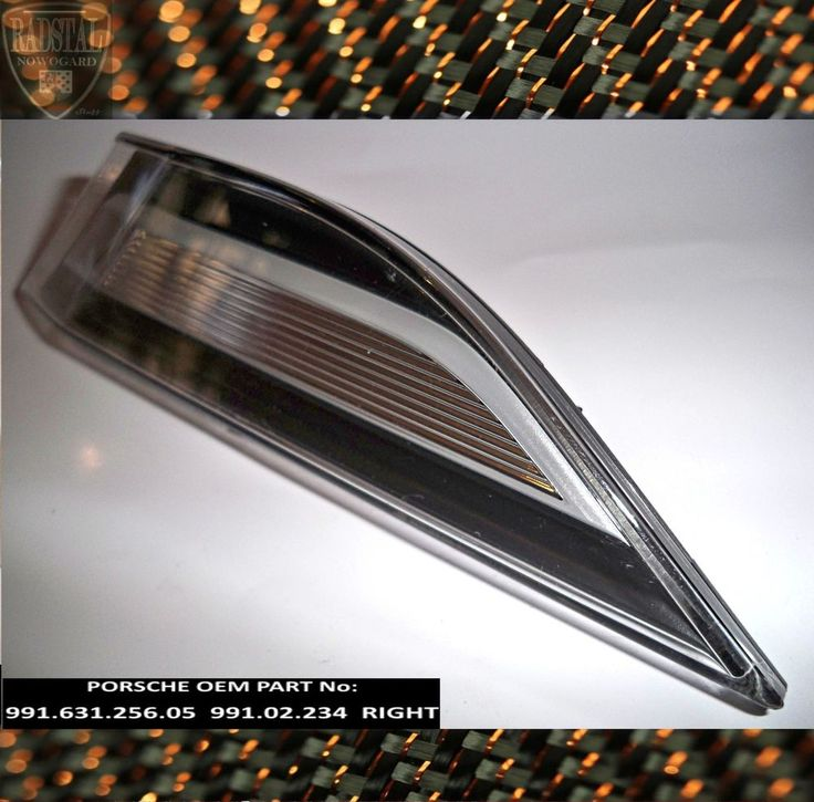 • PORSCHE Side Marker Clear LED Light Front Bumper RIGHT 991 911 2012 15 OEM •
