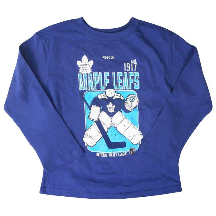 Toronto Maple Leafs Reebok Kids Goal Keep L/S Shirt - shop.realsports