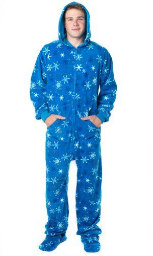 Footed Pajamas offer the best Footed Pajamas Its A Snow Day Adult Hoodie One Piece - Medium Plus/Wide. #pajamas #footed