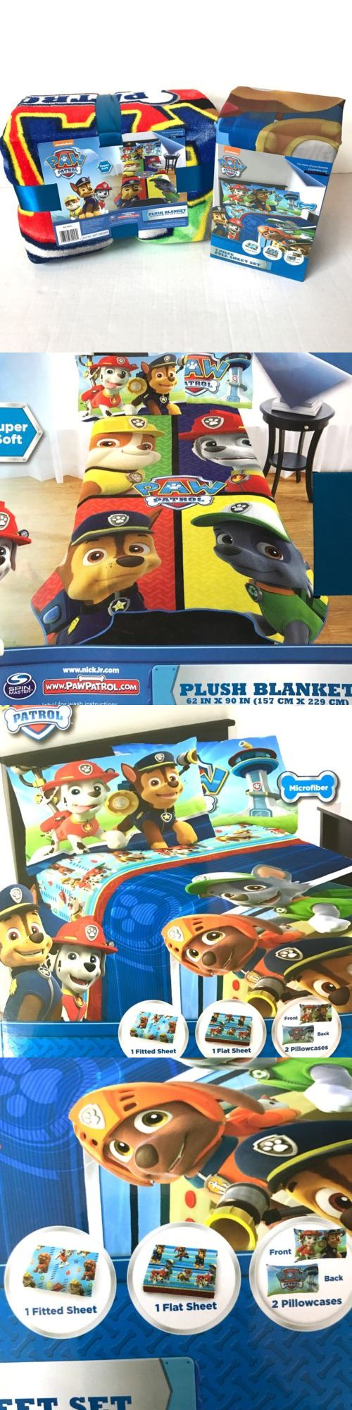 Blankets and Throws 66727: Paw Patrol Puppy Hero 4Pc Full Microfiber Bedding Set Sheets And Plush Blanket -> BUY IT NOW ONLY: $64.97 on eBay!