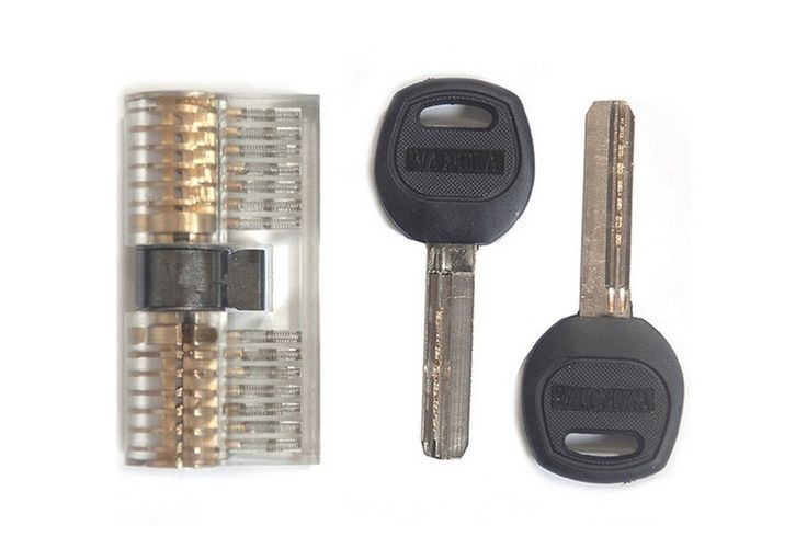 Visible 7-Pin Dimple Practice Cylinder Lock