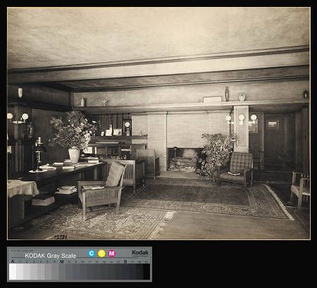Ward Willits House Living Room Frank Lloyd Wright In Chicago