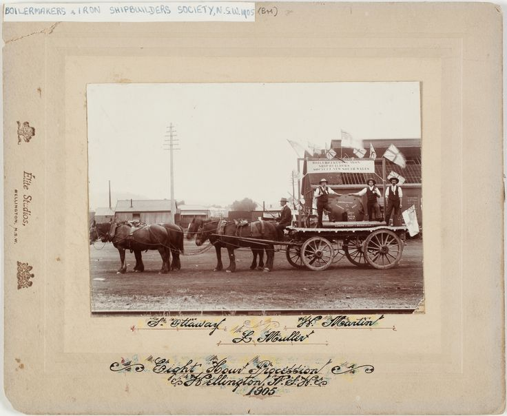 Eight Hour Day Parade, Wellington, NSW. Boilermakers float 1905