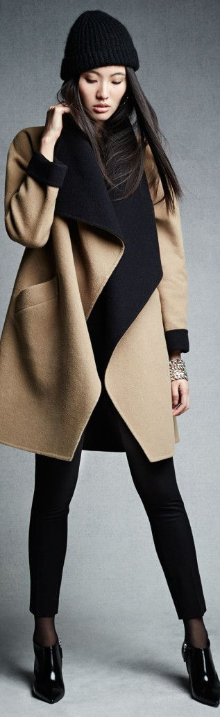 Ralph Lauren Black Label Double-Faced-Wool Malorie Coat