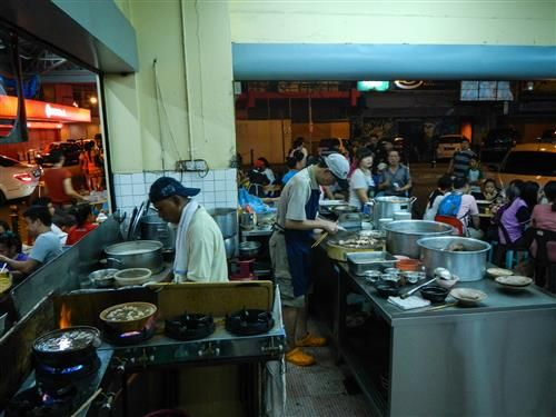 The most crowded buffet in Kota Kinabalu. Probably because they were cooking pork there.  http://www.inspirawtion.com/pulau-sapi.html