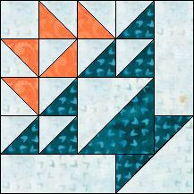 Block of Day for August 12, 2016 - Grape Basket-strip piecing-The pattern may be downloaded until: Wednesday, August 31, 2016.