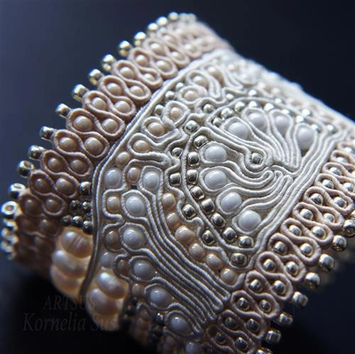 Beautiful example of soutache, this one is a little different