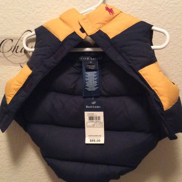 Ralph Lauren Doggy Coat Navy Blue and Gold Ralp Lauren Coat size M. The coat is brand new with tags. Ralph Lauren  Jackets & Coats Vests