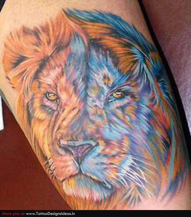 lion tattoo--- awesome color