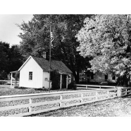 Facade of a house Birthplace of Herbert Hoover West Branch Iowa USA Canvas Art - (24 x 36)