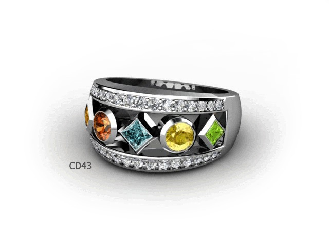 CD43 Great idea for a family ring