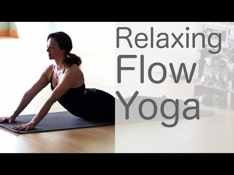 ▶ Free Yoga Class Fun Relaxing Evening Flow: Yoga with Lesley Fightmaster - YouTube 35 mins