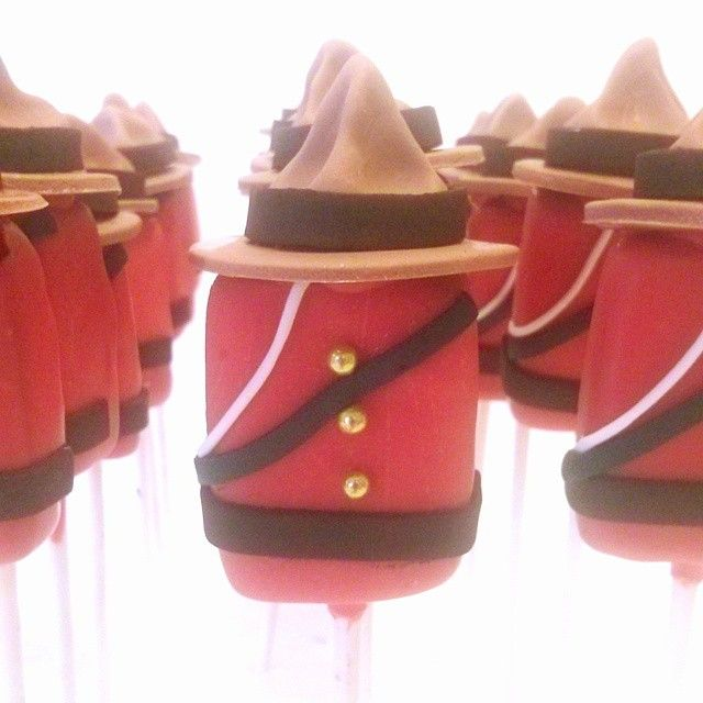 Canada Day cake pop  RCMP/Mountie uniform cakepop by Evie and Mallow