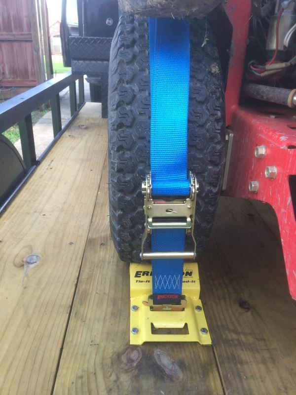 Off Road Motorbike Rear Wheel Tie Down System Downs Strap Straps Tire Tyre