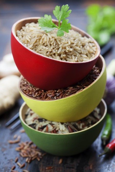 Wild and brown rice benefits! Grace Guru Lifestyle blog! bowls of uncooked rice