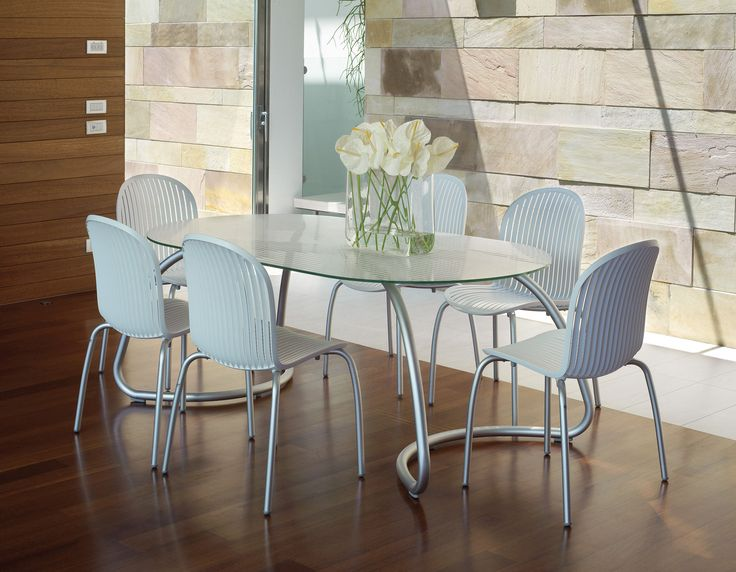 The Ninfea dining setting , looks great, very comfortable chairs, and best of all can be used both indoors and out .!!!