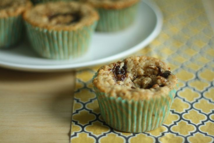 Toasted Oat and Fig Muffins: Toasted Oatmeal, Oat Muffins