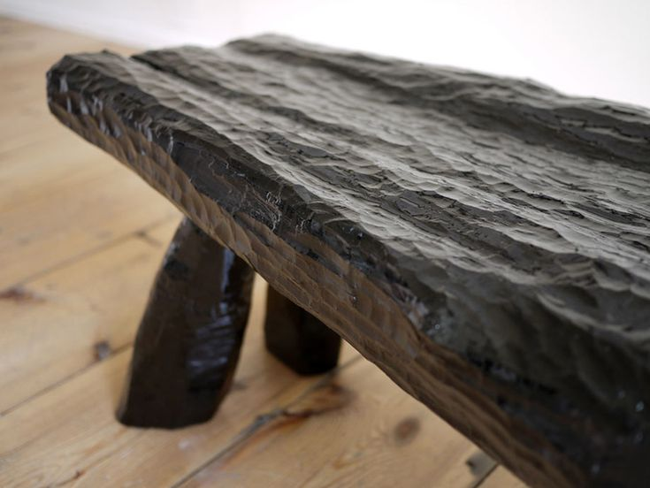 Max Lamb: Urushi lacquer bench. Urushiol is an organic oily liquid extracted from trees. The craft technique has a strong cultural significance in Japan. It's one of the most durable natural finishes known http://maxlamb.org/137-urushi-lacquer-bench-stool/