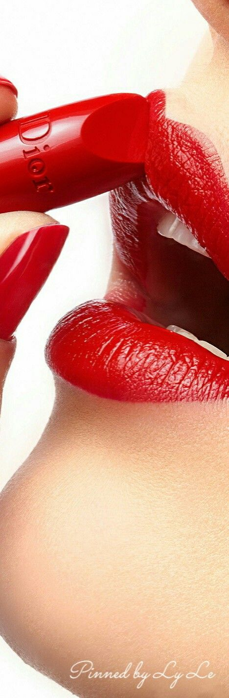 Lipstick should be a bit darker than normal.DIOR| RED