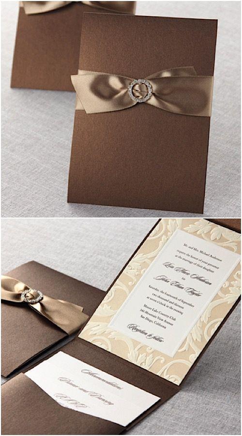 Classic Pocket Fold Wedding Stationery By B Wedding Invitations