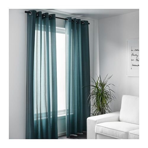 $ 39 PÄRLBUSKE Curtains, 1 pair  IKEA  57x98 in Long  The curtains have an elegant shimmer because two different colors are woven into the fabric.