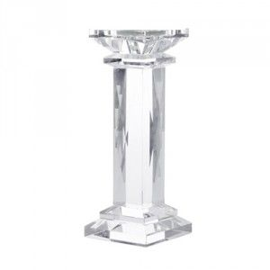 Chunky Crystal Pillar Candle Holder