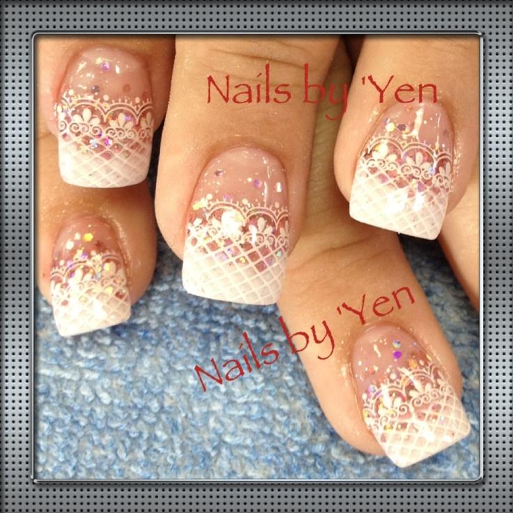 219 Best Lace Nails Images On Pinterest
