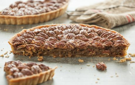A holiday favorite, this pecan pie is made with pure maple syrup.