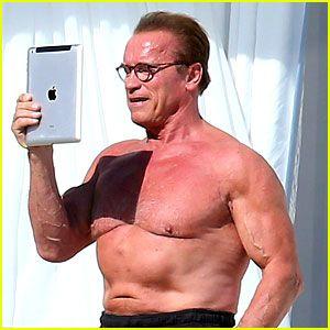 #Arnold Schwarzenegger Shows Off Buff Shirtless Body in Cannes --- More News at : http://RepinCeleb.com  #celebrities #gossips #hollywood #Billboard, #JoeyKing, #PatrickSchwarzenegger, #Prince, #Quantcast, #Scandal, #Schwarzenegger, #Shirtless, #Shows, #Trailer