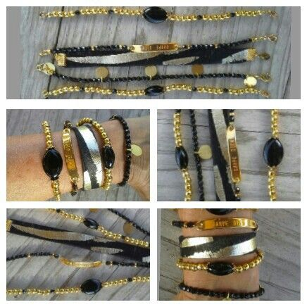 Black & gold 'carpe diem' armcandy by leeuw-design