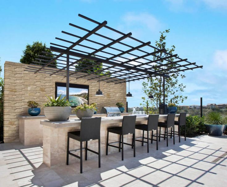 A basic black pergola will define and reveal the beauty of your outdoor and add value to your property. This black color pergola shade is designed for decoration purpose instead of functional. This structure is offering a welcoming effect to eyes and will amaze your guest with its charming beauty.  #pergola #pergolaideas #pergoladesign #pergolaplan #pergolas #garden #gardendesign #gardenideas #patio #outdoor #outdoorliving #patiodesigns #outdoorspace #patiolayout