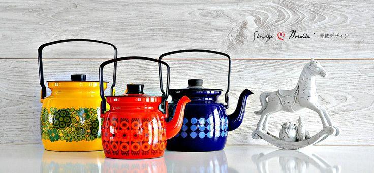 Finel Kettles - Coffee pots - Teapots - Primavera Yellow - Kehrä - Domino by Raija Uosikkinen and Esteri Tomula
