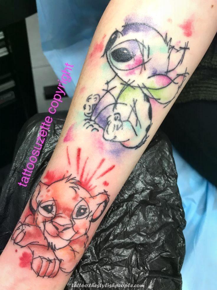 Creative And Great Aquarell Disney Tattoo Disney Sleeve Tattoos Disney Tattoos Watercolor Tattoo Sleeve