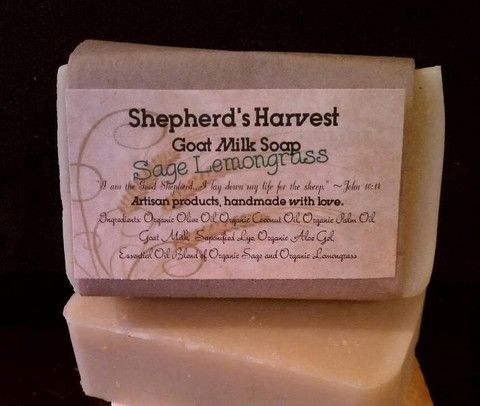 Sage Lemongrass Goat Milk Soap - Shepherd's Harvest
