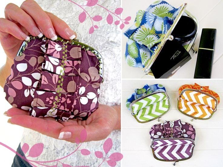 Coin Purse | Sew4HomeSimply Colors, Change Purses, Vanessa Christenson, Coins Purses, Purses Tutorials, Coin Purses, Ruffles Coins, Coin Purse Tutorial, Sewing Tutorials