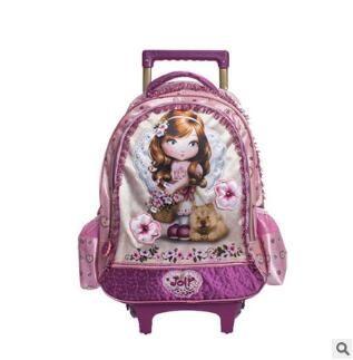 (27.00$)  Watch here  - Kids School trolley backpack Children's Rolling Bag for school Travel  luggage school Bags For girls Trolley Backpacks On wheels