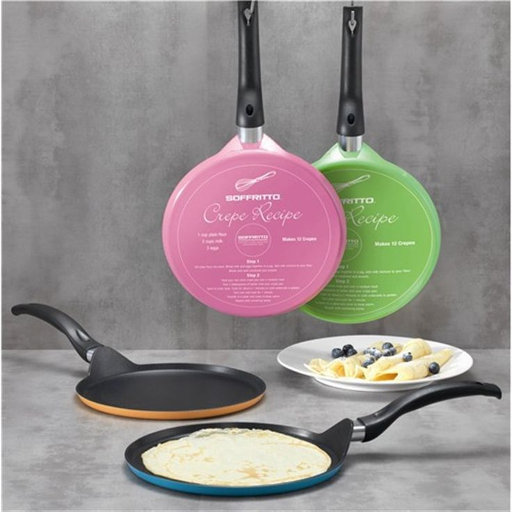Soffritto 25cm Crepe Pans in Assorted Colours | Frypans