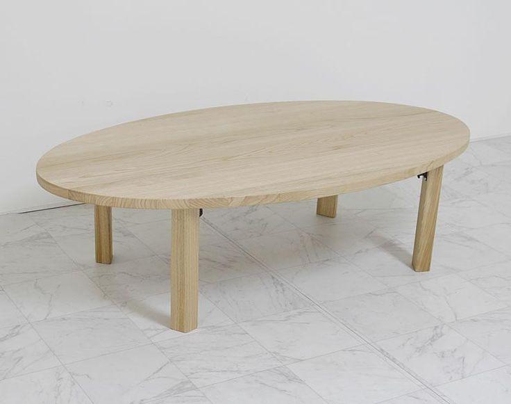 8月 栗材リビングテーブル 65000 W1300/D700/H360(折りたたみ時:110)mm