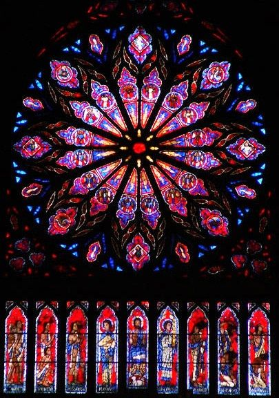 Nidaros Cathedral, Trondheim:  the rose window... my ancestors built this church.  It is the state church and coronation church of Norway.  I've spent hundreds of hours sitting quietly in this beautiful cathedral <3
