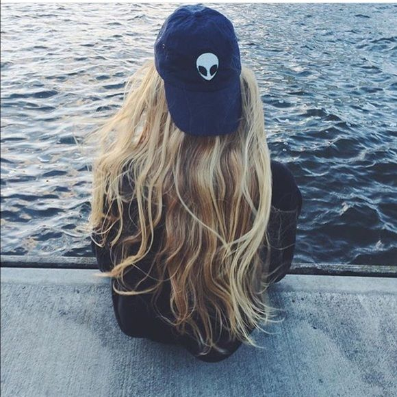 Brandy Melville blue alien patch Katherine cap Nwt Brandy Melville Accessories Hats